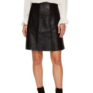 NWT Anthropologie Leather Skirt